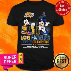 Mickey Mouse Los Angeles City Of Champions 2020 NBA Champions 2020 World Series Champions Shirt