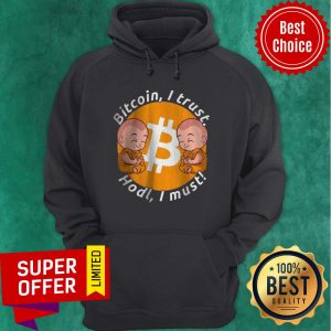 Nice Bitcoin I Trust Hold I Must Holding And Staking BTC Hoodie