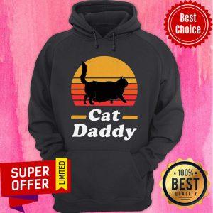 Nice Black Cat Daddy Vintage Hoodie