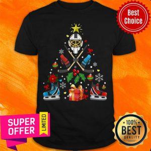 Nice Hockey Christmas Tree Shirt