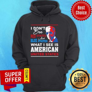 Nice I Don'T See Red States And Blue States I See American United States Hoodie