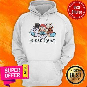 Nice Santa Claus Reindeer 2020 Face Mask Nurse Squad Hoodie