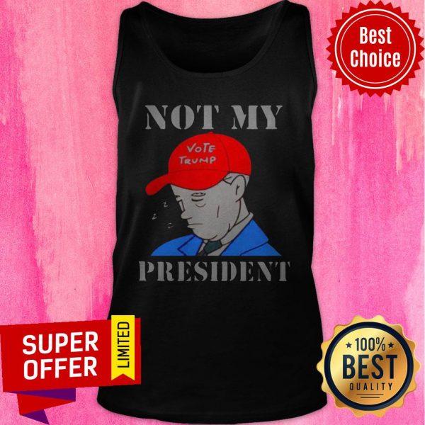Official Biden Not My Vote Trump President Election Tank Top