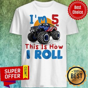 Official I'm 5 This Is How I Roll Truck 4 Wheeler Monster Birthday Hoodie