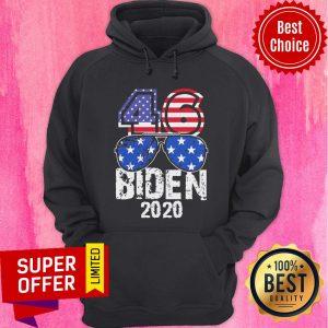 Premium 46 Biden Flip Trump 2020 American Flag Hoodie