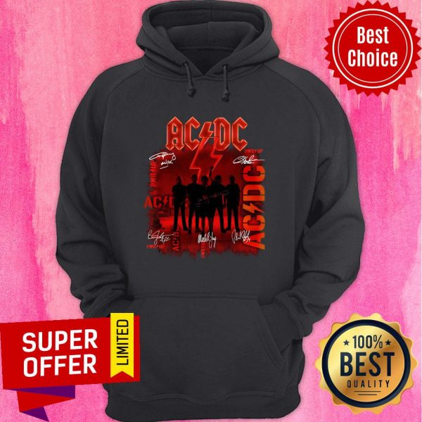 Premium ACDC Rock Band Power Up Album Signatures Hoodie