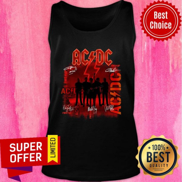 Premium ACDC Rock Band Power Up Album Signatures Tank Top