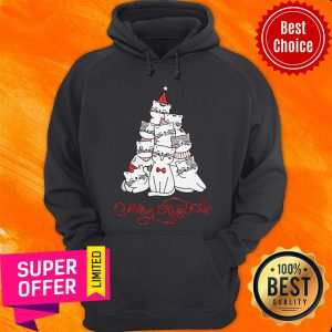 Premium Cats Merry Christmas Tree Hoodie