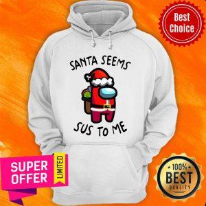 Premium Santa Seems Sus To Me Christmas Hoodie