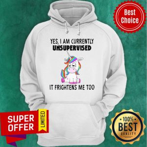 Premium Unicorn Yes I Am Currently Unsupervised It Frightens Me Too Hoodie