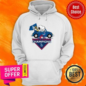 Snoopy And Woodstock Los Angeles Dodgers 2020 World Series Champions Hoodie