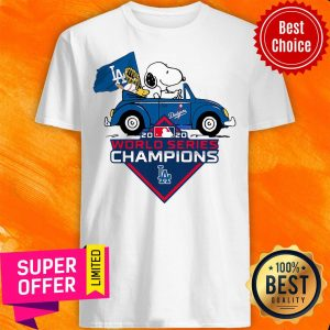 Snoopy And Woodstock Los Angeles Dodgers 2020 World Series Champions Shirt