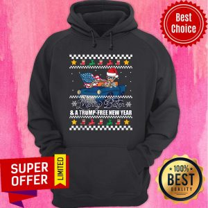 Top Merry Biden And A Trump Free New Year Ugly Christmas Hoodie