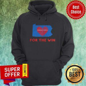 Top Pennsylvania For The Win Patriotic Biden And Harris Heart Hoodie