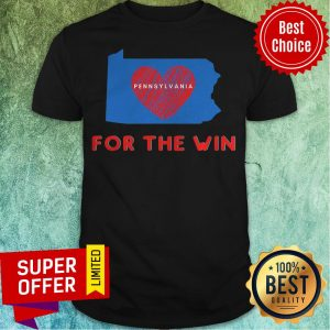 Top Pennsylvania For The Win Patriotic Biden And Harris Heart Shirt