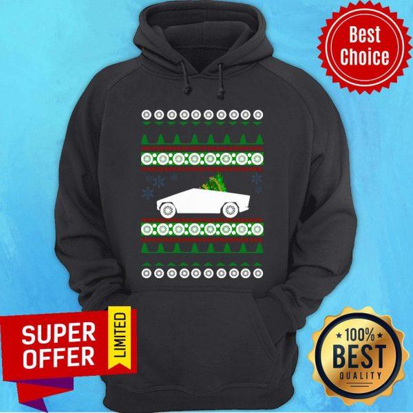 Awesome CyberTruck Tesla Ugly Christmas Hoodie
