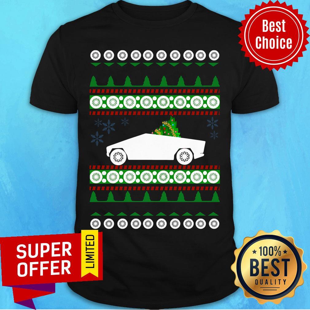 Awesome CyberTruck Tesla Ugly Christmas Shirt