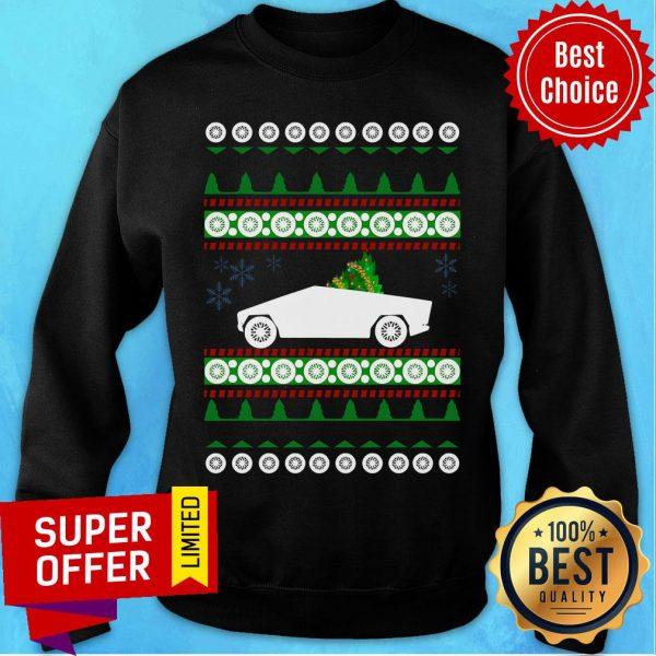 Awesome CyberTruck Tesla Ugly Christmas Sweatshirt