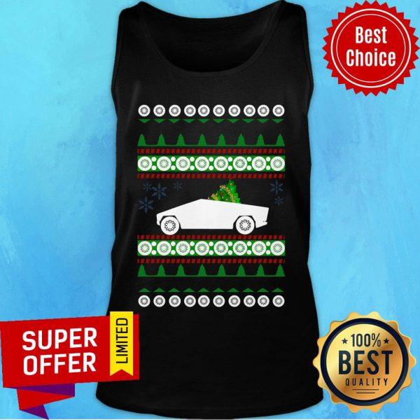 Awesome CyberTruck Tesla Ugly Christmas Tank Top
