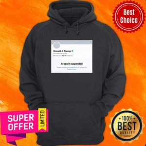 Awesome Trump Suspended From Twitter Short-Sleeve Unisex Hoodie