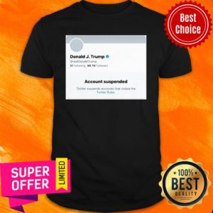 Awesome Trump Suspended From Twitter Short-Sleeve Unisex Shirt