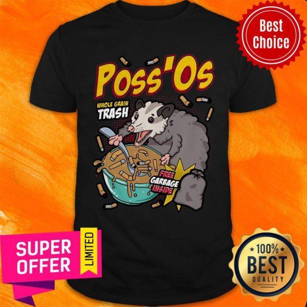 Funny Poss'Os Possum Cereal Box Shirt