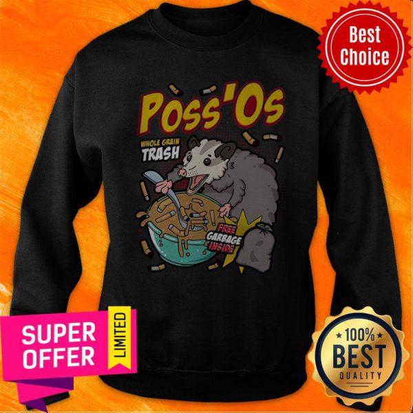 Funny Poss'Os Possum Cereal Box Sweatshirt