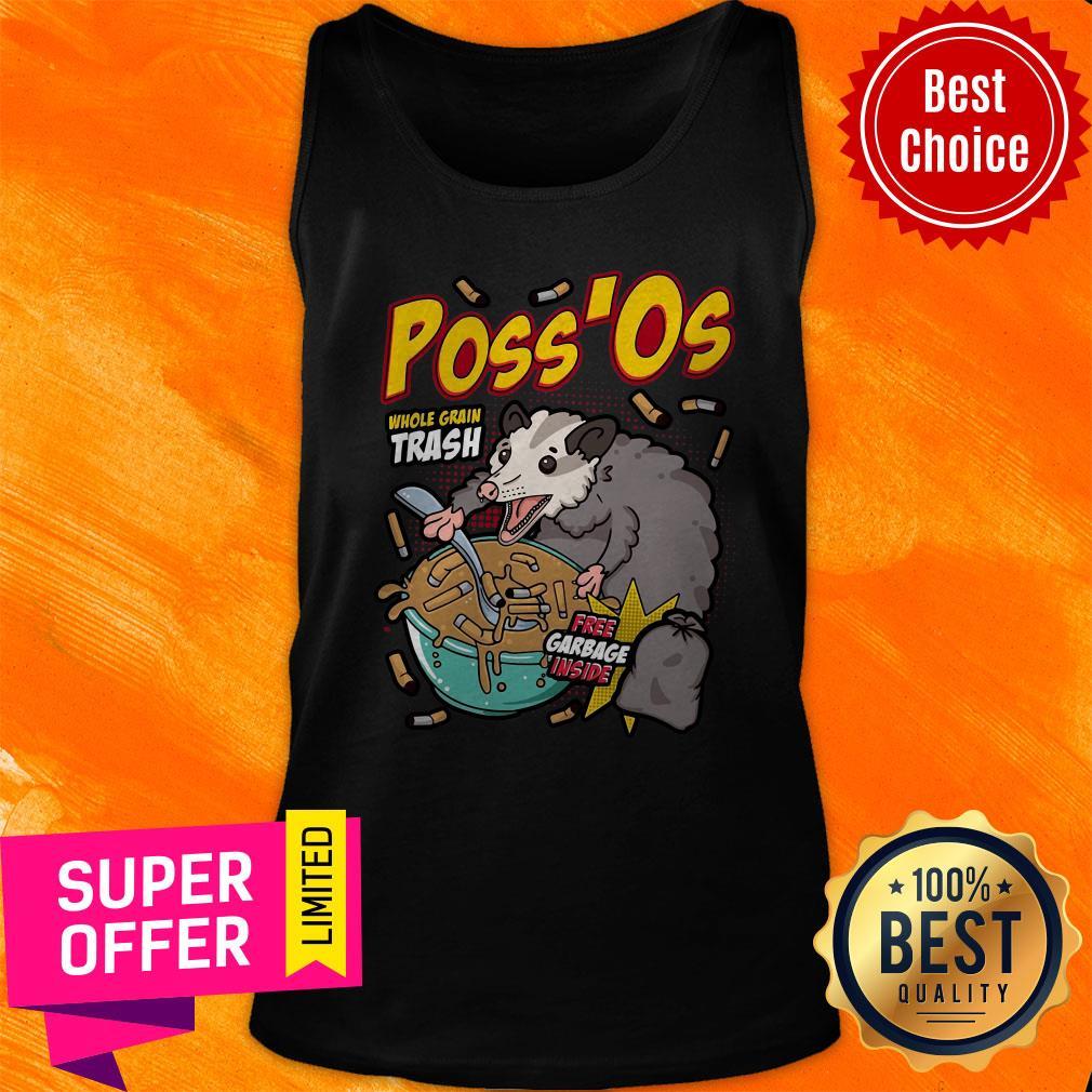 Funny Poss'Os Possum Cereal Box Tank Top
