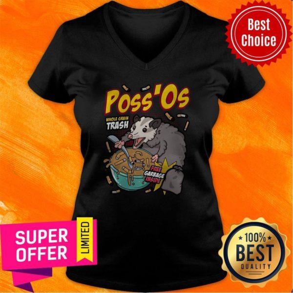 Funny Poss'Os Possum Cereal Box V-neck