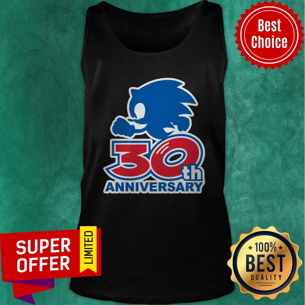 Funny Sonic 30th Anniversary Tank Top