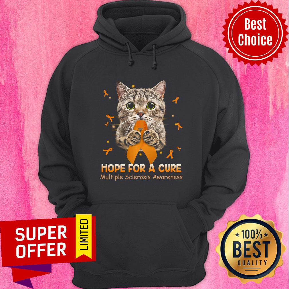 Official Cat Hope For A Cure Multiple Sclerosis Awareness Hoodie