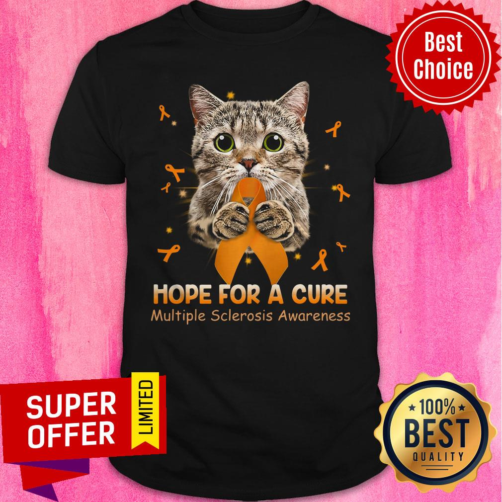 Official Cat Hope For A Cure Multiple Sclerosis Awareness Shirt