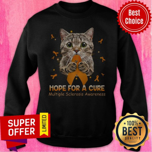 Official Cat Hope For A Cure Multiple Sclerosis Awareness Sweatshirt