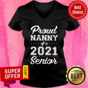 Official Proud Nanny Of A 2021 Senior V-neck