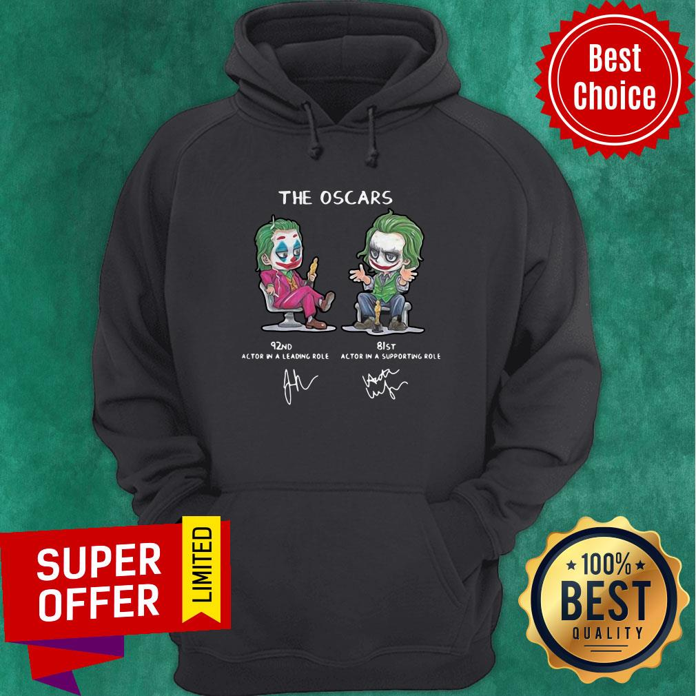 Top Joker The Oscars 92nd 81st Actor In A Leading Role Signatures Hoodie
