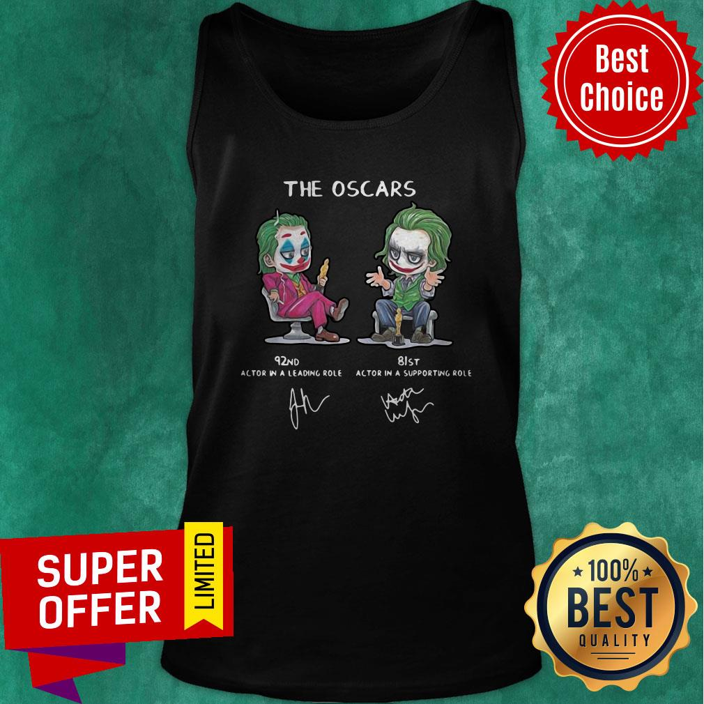 Top Joker The Oscars 92nd 81st Actor In A Leading Role Signatures Tank top