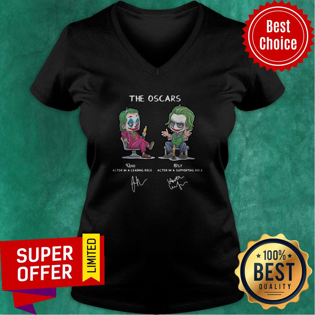Top Joker The Oscars 92nd 81st Actor In A Leading Role Signatures V-neck