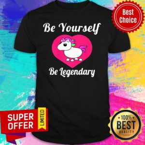 Unicorn Adopt Me Be Yourself Be Legendary Positive Message Red Shirt