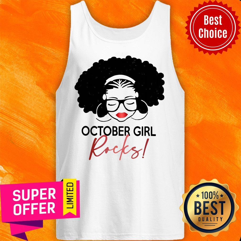 Nice October Girl Rocks Tank Top