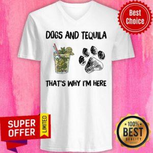 Premium Mojito And Dog That's Why I'm Here V-neck