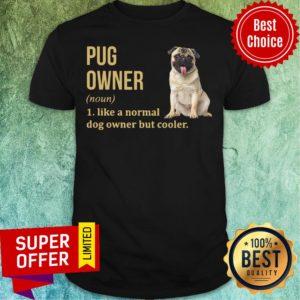 Pug Dog Owner Like A Normal Dog But Cooler Shirt