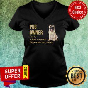 Pug Dog Owner Like A Normal Dog But Cooler V-neck