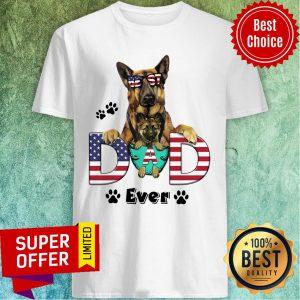 Best German Shepherd Best Dad Ever American Flag Shirt