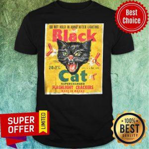 Black Cat Flashlight Cracker Made In Macau Shirt