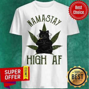 Cat Do Yoga Namastay High Af Shirt
