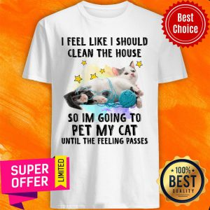 Cat I Should Clean The House For Cat Lover Shirt