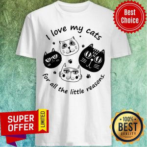 Funny I Love My Cats For All The Little Reasons Shirt