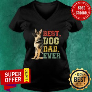 Nice Best Dog Dad Evert V-neck