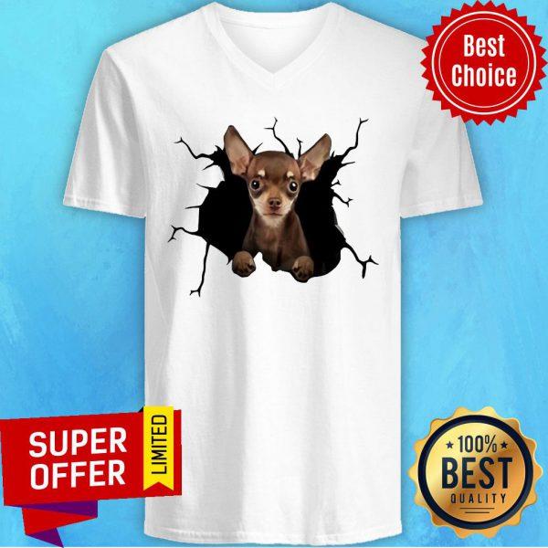 Nice I Love Chihuahua V-neck