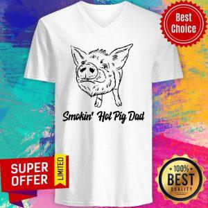 Premium Pig Smokin Hot Pig Dad V-neck